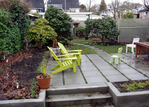 Back yard - 2007