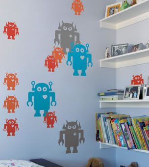 giant robot decals by blik