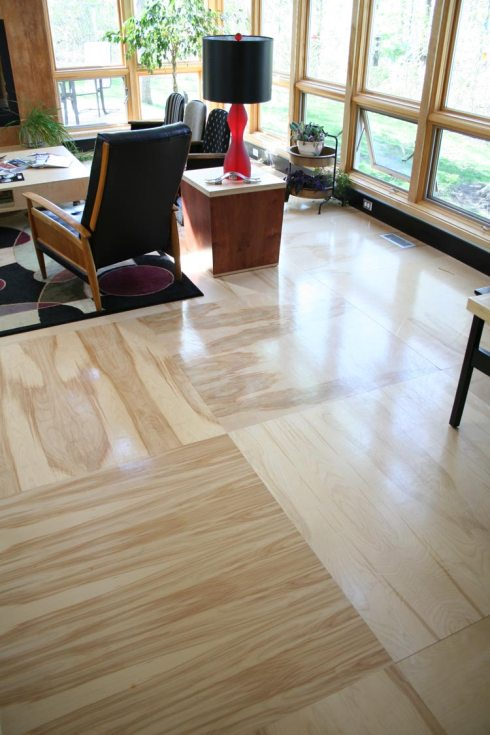 birch plywood floor