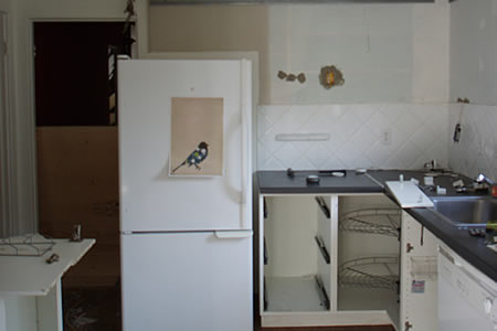 kitchen after day 1