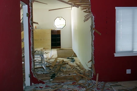 dining room - end of day 1