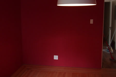 north wall of dining room - before