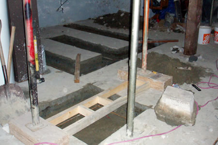 shear wall footings for staircase