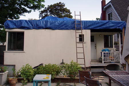 roof rippage, day 1