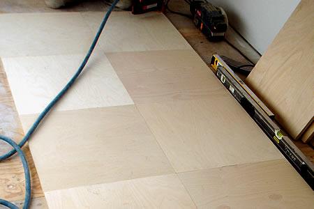 Plywood Floor Tiles Livemodern Your Best Modern Home