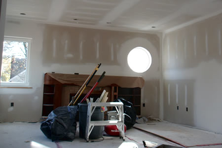 living room drywall