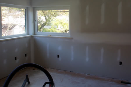 bedroom drywall