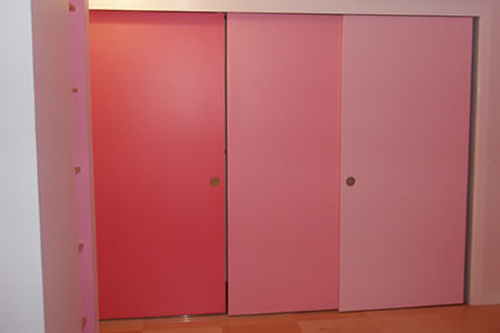Pink Closet Room. Soft Pink Closet Doors Via Wendy Correen Room ...