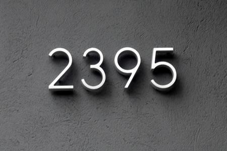 modern house numbers | gardenopolis